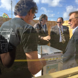 Mirco Bee Apiary Groundbreaking at the Urban Farming Institute