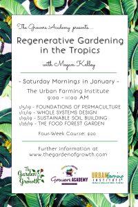 Regenerative Gardening Urban Farming Institute